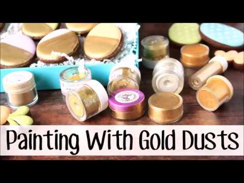 Painting With Edible Gold Dusts