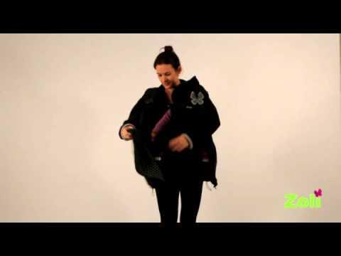 08210a415b6 manteau de portage bebe sur le ventre (portage ventral) - YouTube