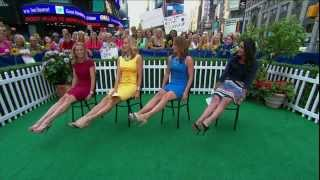 Amy Robach & Lara Spencer & Ginger Zee - sexy legs & stiletto high heels - Good Morning America