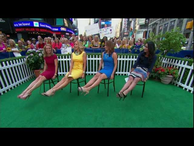 Amy Robach Amp Lara Spencer Amp Ginger Zee Sexy Legs