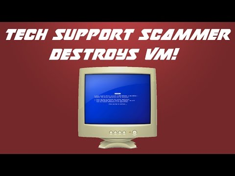 Tech Support Scammer Gets Mad and DESTROYS my VM!