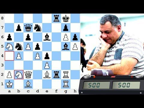 LIVE Blitz #3737 (Speed) Chess Game: White vs Grandmaster YARDBIRD in Van't Kruijs opening