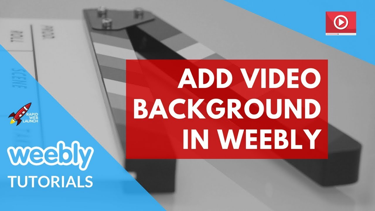 How to create a drag & drop video background in weebly editor.