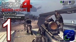 Modern Combat 4: Zero Hour Android Walkthrough - Gameplay Part 1 - Mission 1: Red Summit