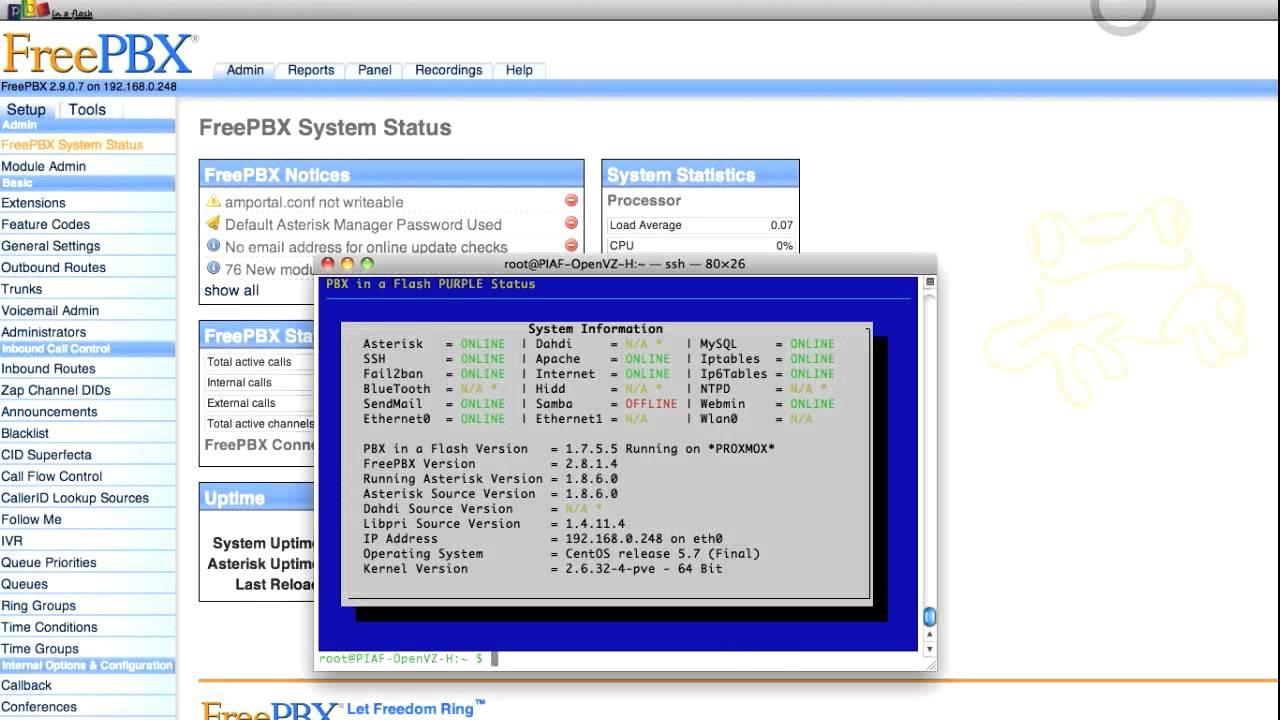 Upgrading PBX in a Flash to FreePBX 2 9