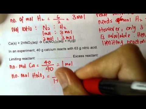 Video 55   Limiting and Excess Reactants WS C
