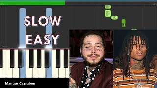 Post Malone, Swae Lee - Sunflower (Spider-Man: Into the Spider-Verse) Slow Easy Piano Tutorial