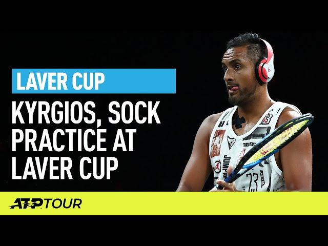 Kyrgios, Sock, Shapovalov, Thompson Practice | Laver Cup | ATP