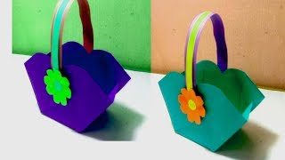 How To Make Paper Bsket || DIY Paper Basket Tutorial || Crafts Design