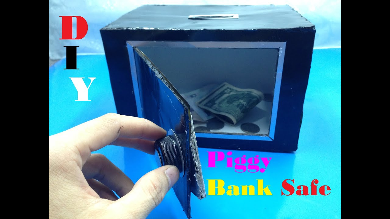 How to make piggy bank safe at home diy tutorial youtube for How to make a simple piggy bank
