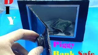 How to make Piggy Bank Safe at Home - DIY - Tutorial