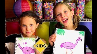 Sign Post Art with Sign Post Kids! How to draw a Flamingo!