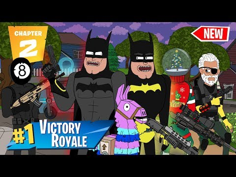 Batman Plays Fortnite Chapter 2 (Fortnite Animation)