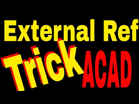 How to Attach External Reference in Autocad - Xref, Exref - xa command - Online Tutorial Classes