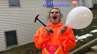 Popping things in balloons