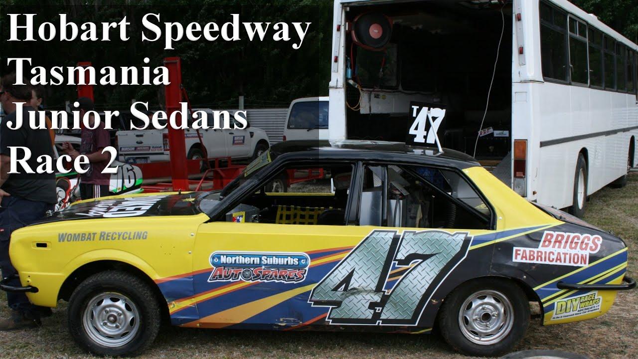 Junior Sedans Race Hobart Speedway Youtube