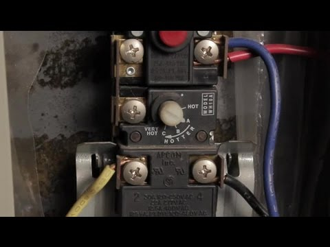 How to Set Water Heater Element Temps  Hot Water Heaters - YouTube