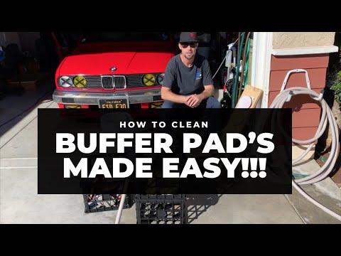Cleaning microfiber, foam an wool polishing pads AKA buffing / buffer pads