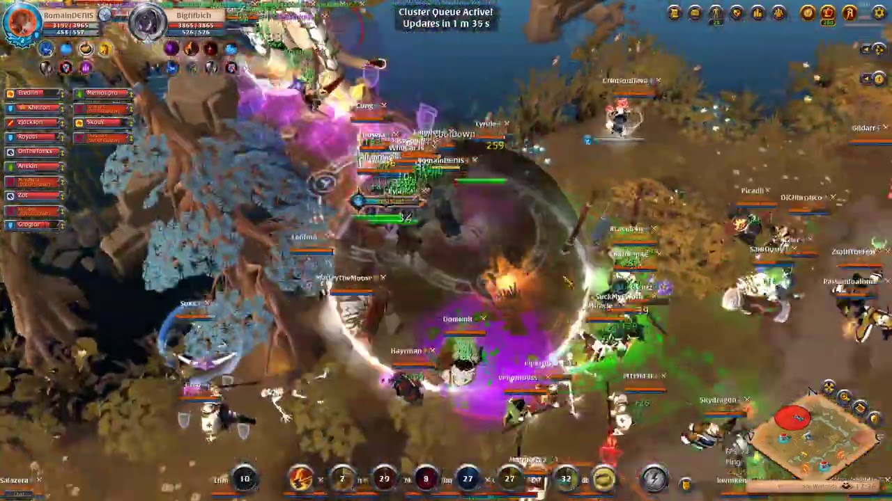HELLO SURF WE ARE THERE TO FIGHT YOU   Blue Army ZvZ   Albion Online
