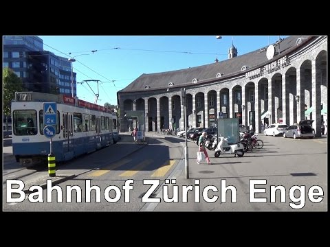 Bahnhof Zürich Enge - Strassenbahnen - Züge in Zürich