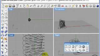 Rhino 4. Построение кривых Безье, спиралей и др.