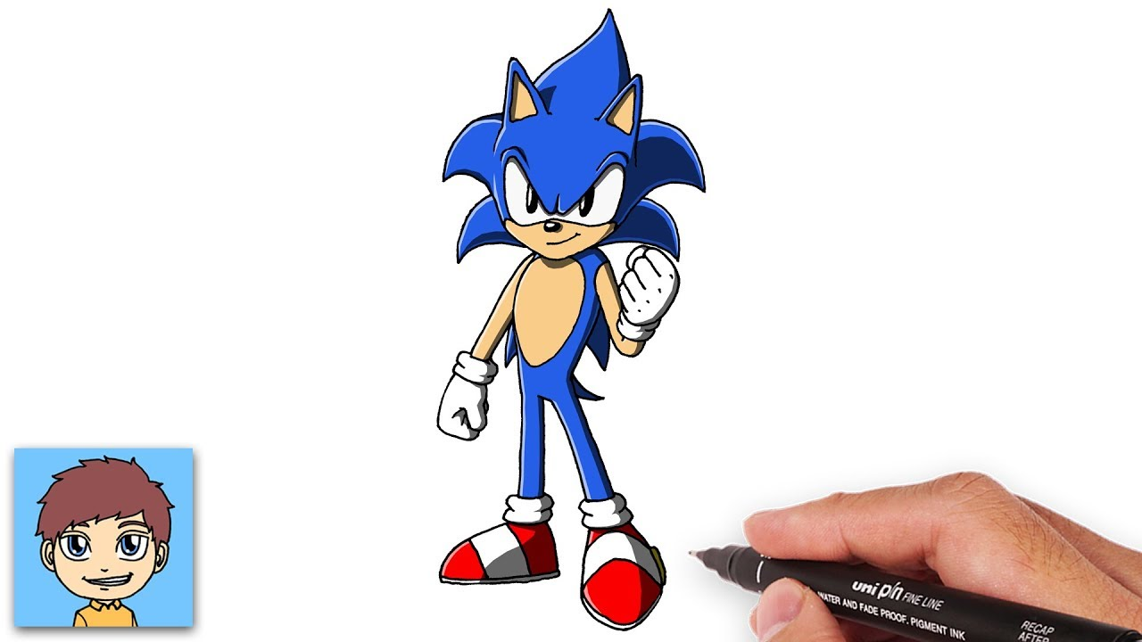 Comment Dessiner Sonic Facilement Sonic The Hedgehog Dessin Facile Youtube
