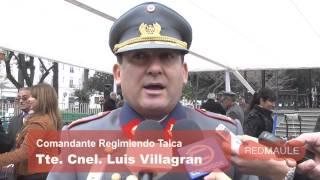 Soldados conscriptos del Regimiento Talca juraron su lealtad a la patria