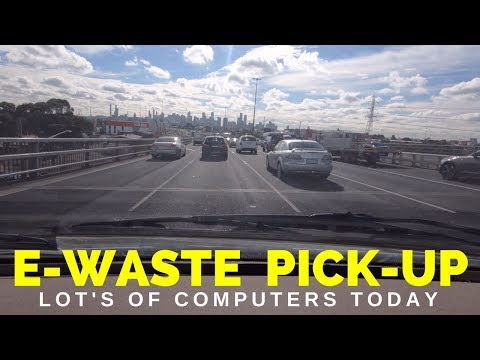 eWaste Pick Up Day Lot's of PC's - Part 1