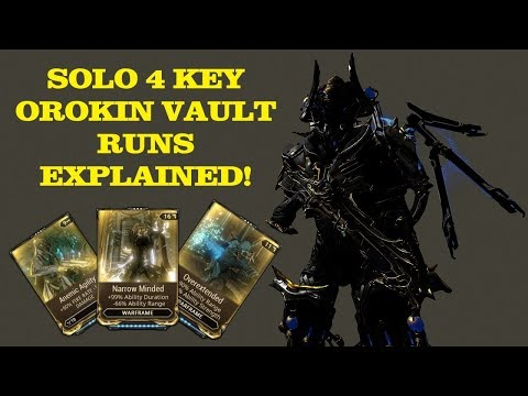 Warframe - Solo 4 Dragon Key Orokin Vault Runs Explained!!