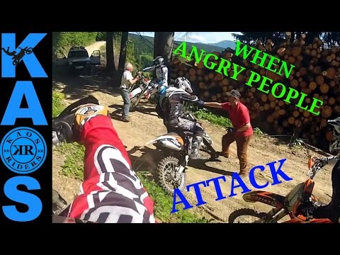 Crazy Angry People vs Bikers