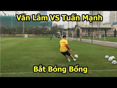 Đặng Văn Lâm VS Tuấn Mạnh ĐT Việt Nam với màn bắt bóng bổng khiến Bùi Tiến Dũng phải nể