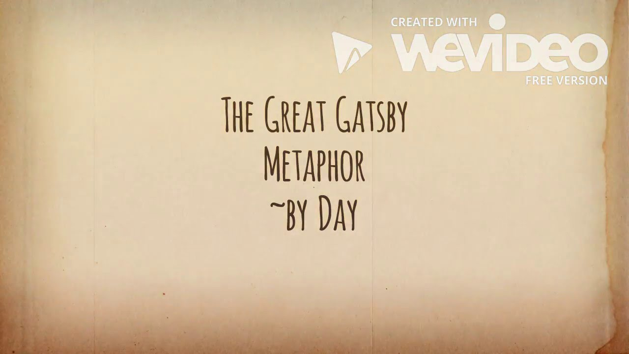 metaphors in the great gatsby