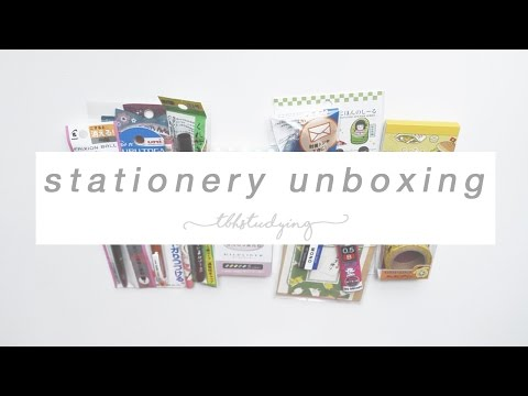 stationery unboxing | zenpop