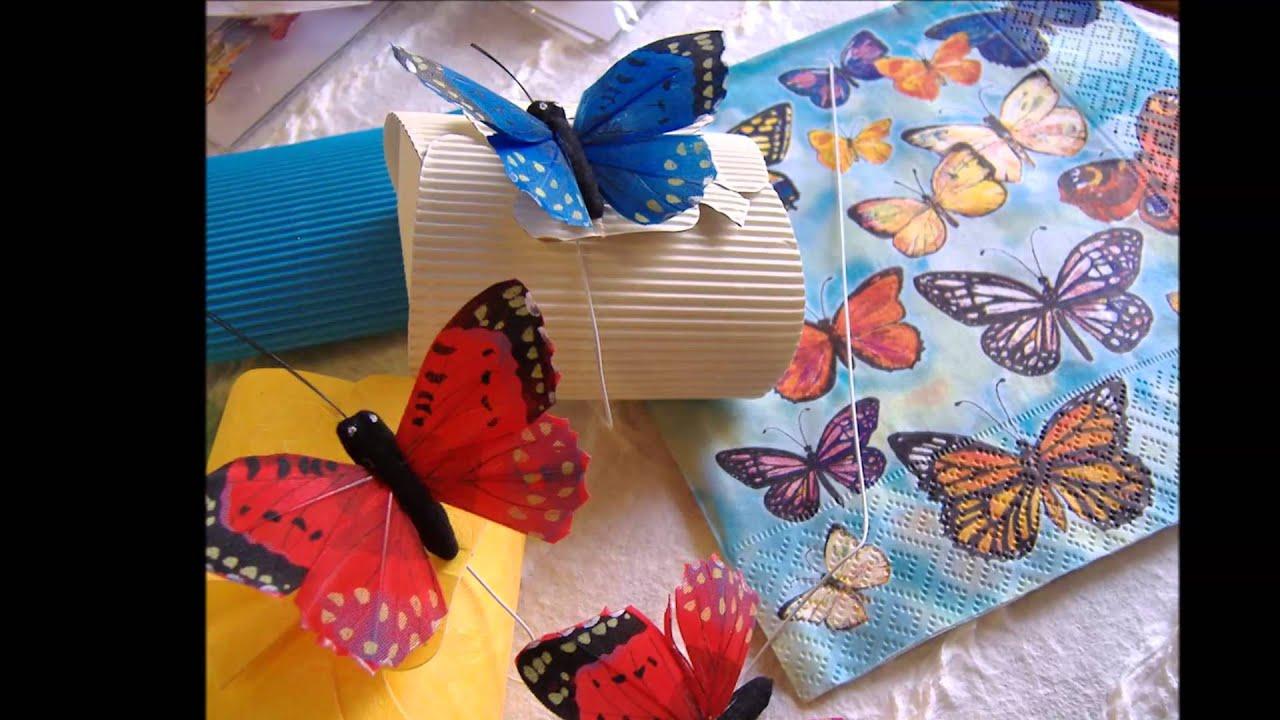Amato Farfalle per bomboniere confetti partecipazioni, Schmetterlinge  SZ38