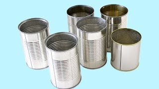 3 SUPER EASY TIN CAN DESIGNS! Tin Can Recycle Crafts