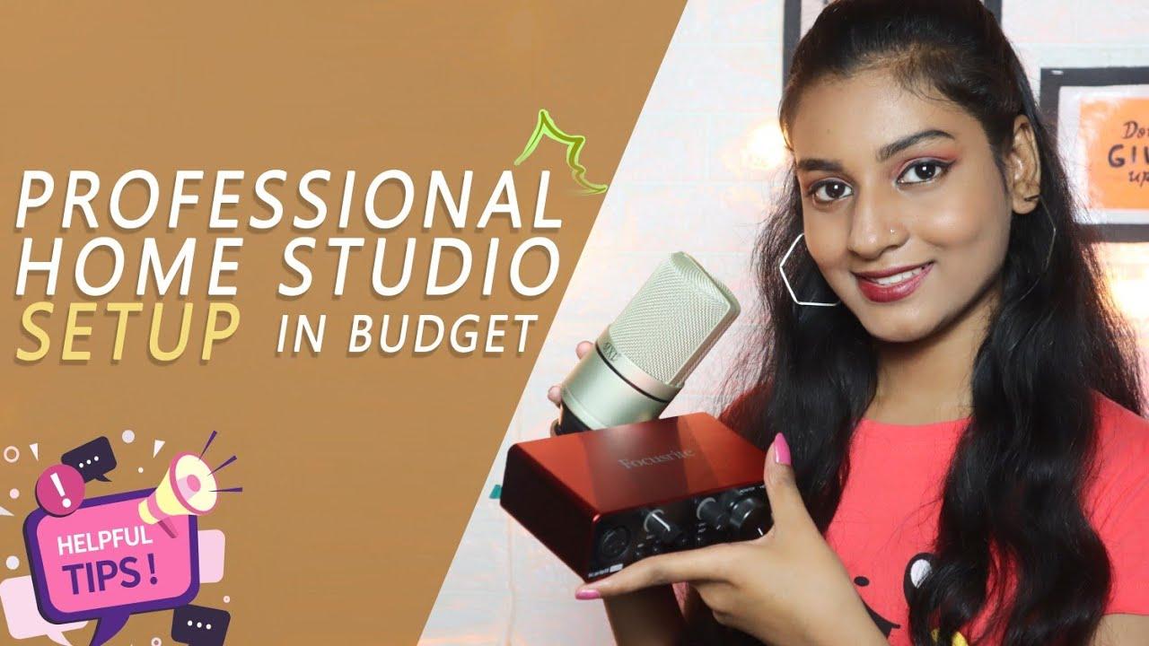 Professional Home Studio Setup in Budget | My Current Recording setup | Kajal Sharma