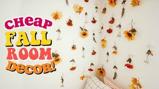 Diy Fall Room Decor Ideas Cheap Easy Youtube