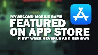 My second mobile game gets featured on App Store/Revenue 1 week since launch