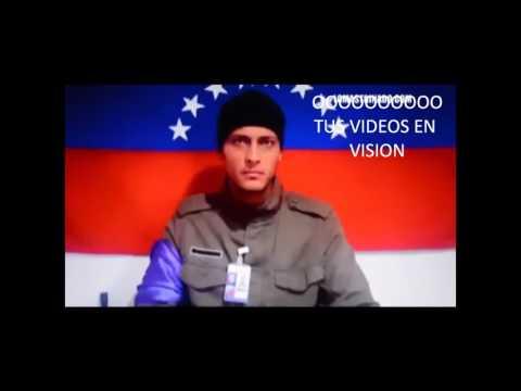 Reapareció Óscar Pérez el Piloto del Helicóptero del CICPC en Caracas Venezuela.