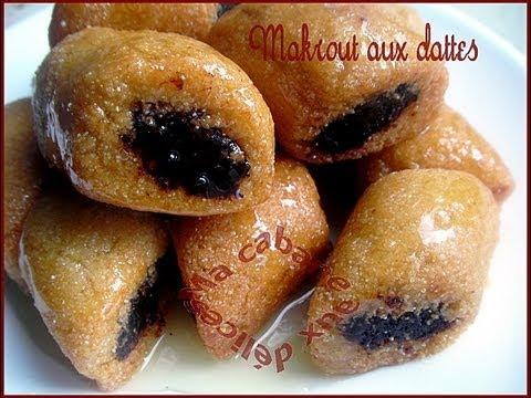 makrout aux dattes gateau oriental au miel , Makrout with dates, Oriental  pastry with honey