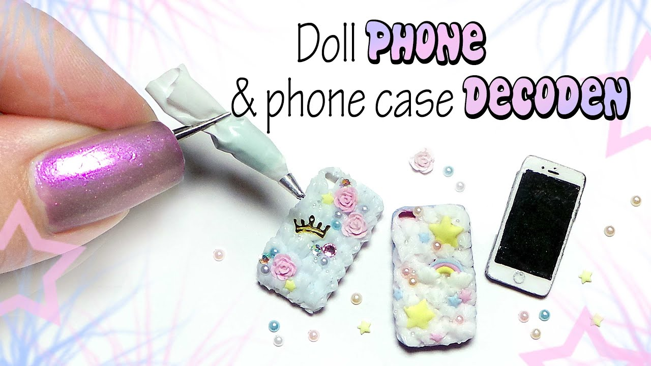 Miniature PHONE u0026 DECODEN Phone Case Tutorial // Dolls/Dollhouse ...