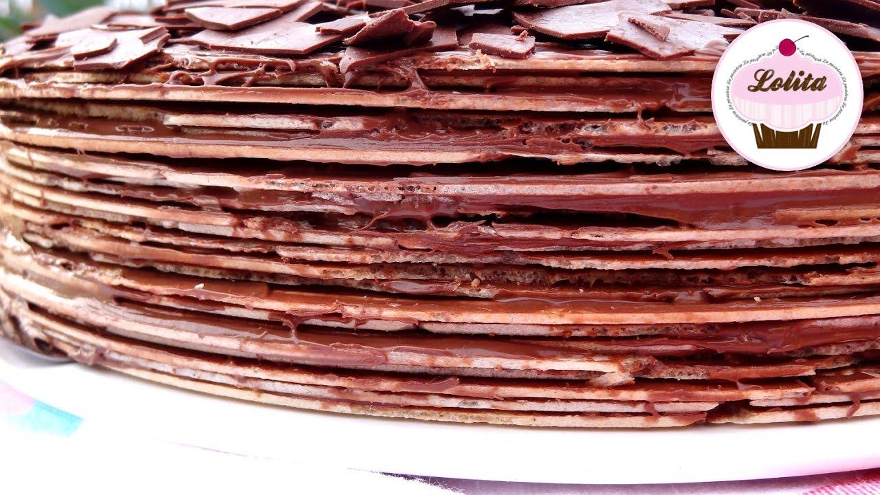 Receta de tarta Huesitos con Nutella | Tarta Nutella y obleas | Tarta de cumpleaños