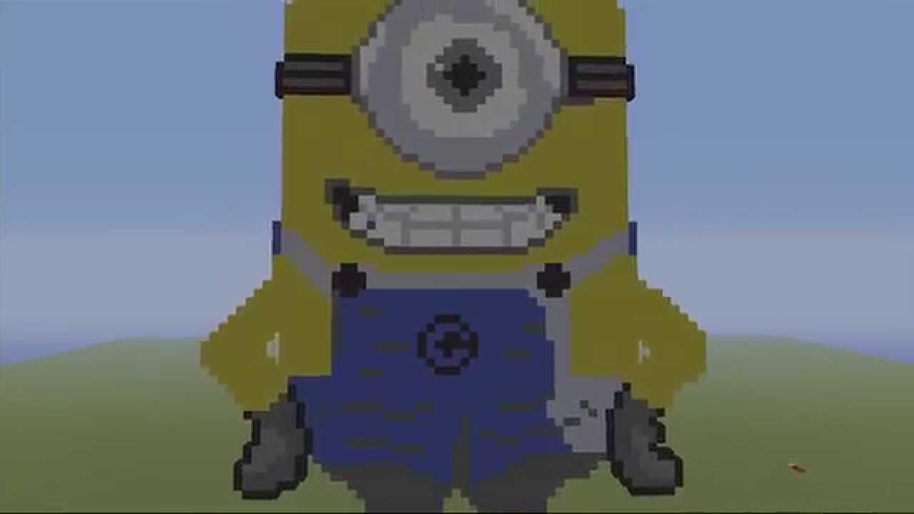 Minions Mc Speed Build Minecraft Pixel Art