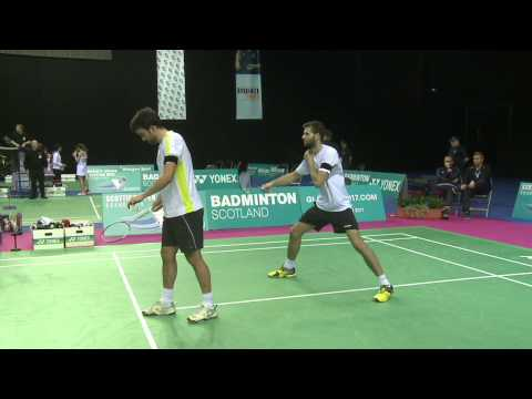 Badminton - Careme / Labar vs Fuchs / Schoettler (MD, QF) - Scottish Open 2015
