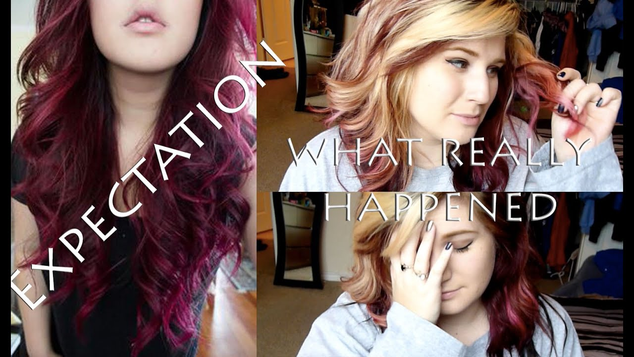 Magenta Pink Hair Coloring Epic Fail Youtube