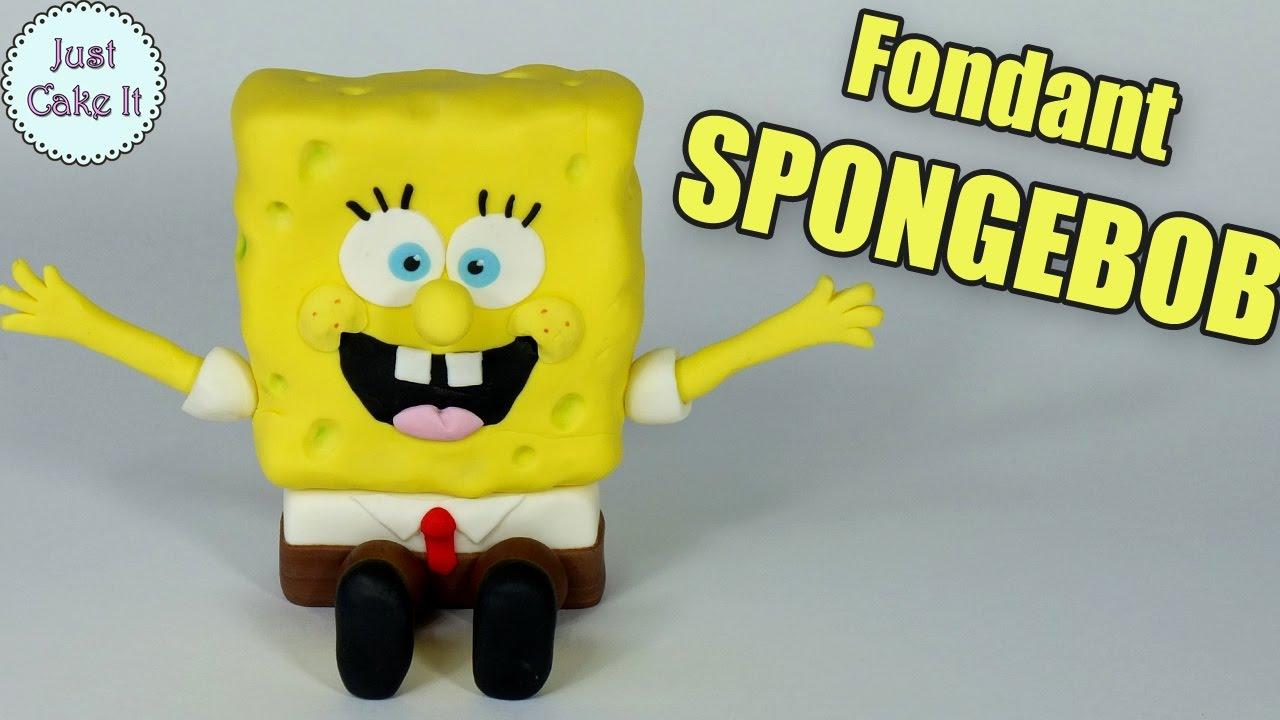Fondant SPONGEBOB cake topper How to make Spongebob figurine