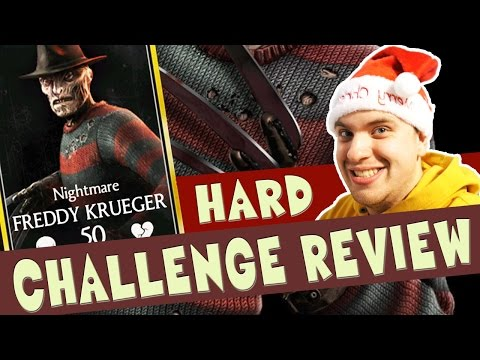 HARD Nightmare Freddy Krueger Challenge in MKX Mobile REVIEW! Happy Holidays:)