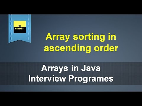 array-sorting-in-ascending-order-|-java-interview-question-and-answers