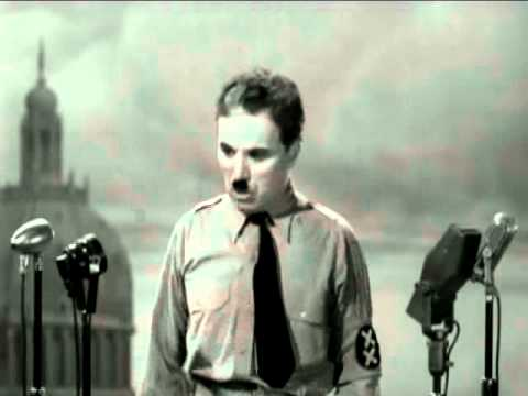 Charlie Chaplin The Great Dictator speech (music by The Secret Cinema Band  'scene Y-11-A')