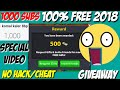 500 CASH 😵 + 800 MILLION COINS FOR FREEEE ! /NO HACK/CHEAT  HUGE GIVEAWAY BY KK / 1000 SUBS SPECIAL